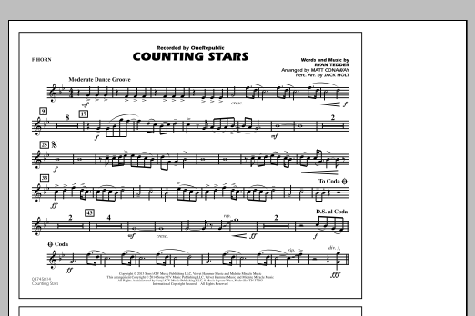 Counting Stars - F Horn (Marching Band)