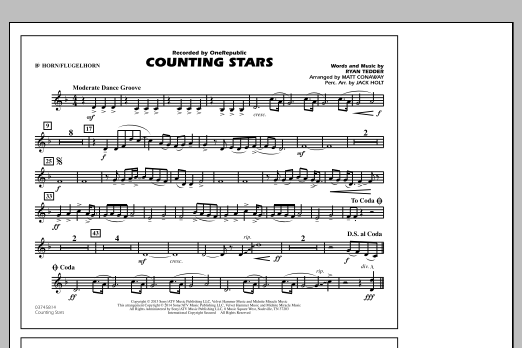 Counting Stars - Bb Horn/Flugelhorn (Marching Band)