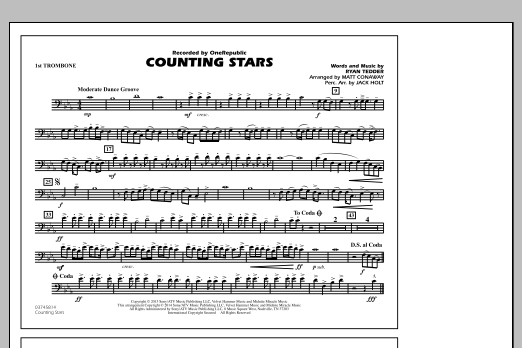 Counting Stars - 1st Trombone (Marching Band)