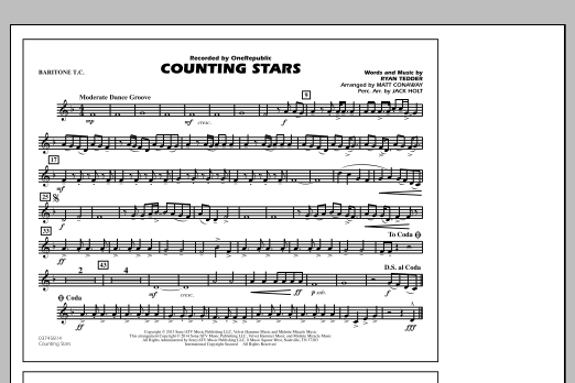 Counting Stars - Baritone T.C. (Marching Band)