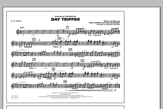 Day Tripper - Bb Clarinet (Marching Band)