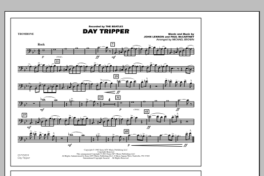 Day Tripper - Trombone (Marching Band)