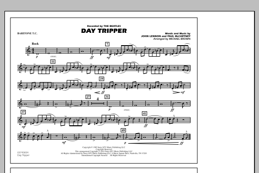 Day Tripper - Baritone T.C. (Marching Band)