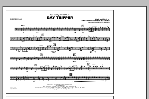 Day Tripper - Electric Bass (Marching Band)
