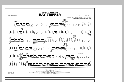 Day Tripper Snare Drum By Michael Brown John Lennon The Beatles