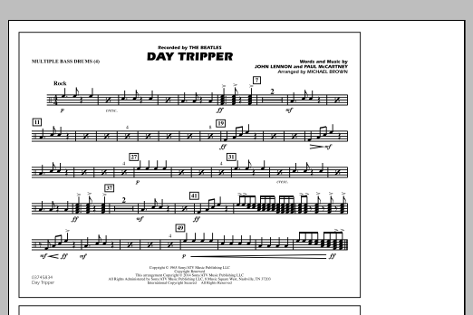 Day Tripper Bb Tenor Sax By Michael Brown John Lennon The