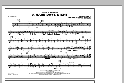 A Hard Day's Night - Bb Clarinet (Marching Band)