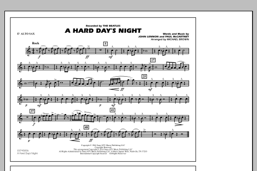 A Hard Day's Night - Eb Alto Sax (Marching Band)