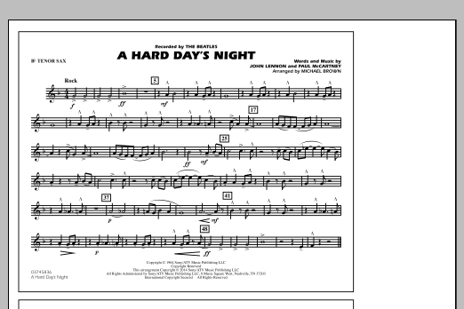 A Hard Day's Night - Bb Tenor Sax (Marching Band)