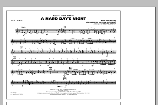 A Hard Day's Night - 3rd Bb Trumpet (Marching Band)