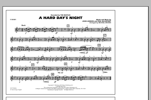 A Hard Day's Night - F Horn (Marching Band)