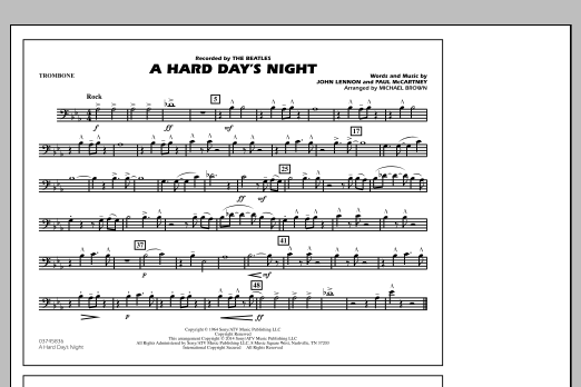 A Hard Day's Night - Trombone (Marching Band)