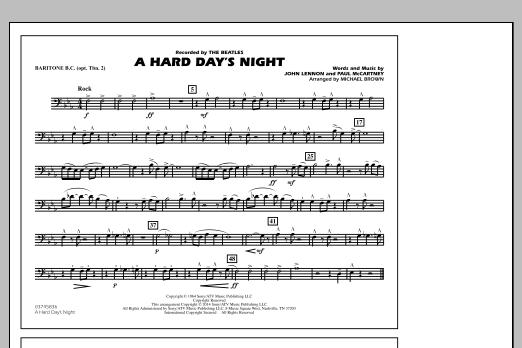 A Hard Day's Night - Baritone B.C. (Opt. Tbn. 2) (Marching Band)