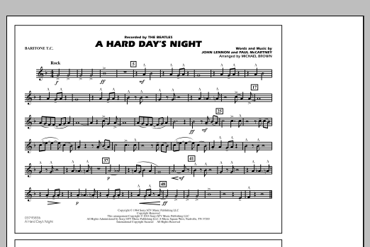 A Hard Day's Night - Baritone T.C. (Marching Band)
