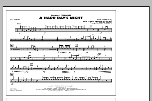 A Hard Day's Night - Quad Toms (Marching Band)