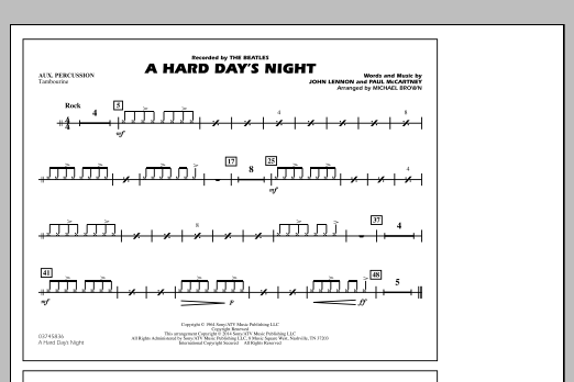 A Hard Day's Night - Aux Percussion (Marching Band)