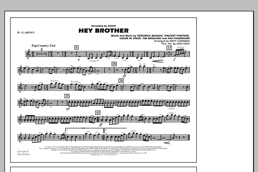 Hey Brother - Bb Clarinet (Marching Band)