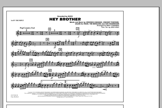 Hey Brother 1st Bb Trumpet At Stantons Sheet Music