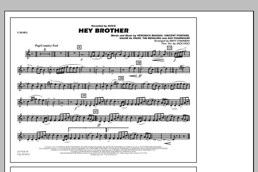 Hey Brother - F Horn (Marching Band)