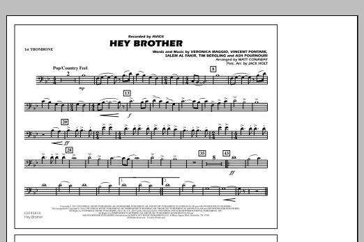 Hey Brother - 1st Trombone (Marching Band)