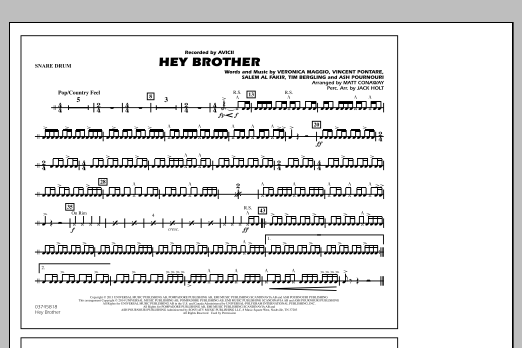 Hey Brother - Snare Drum (Marching Band)