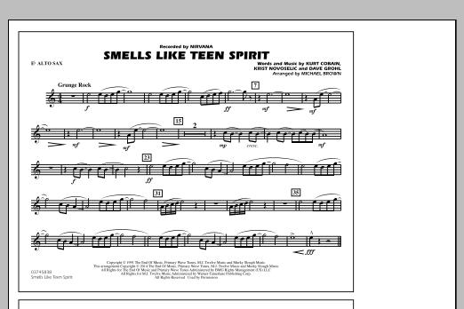 Smells Like Teen Spirit - Eb Alto Sax (Marching Band)