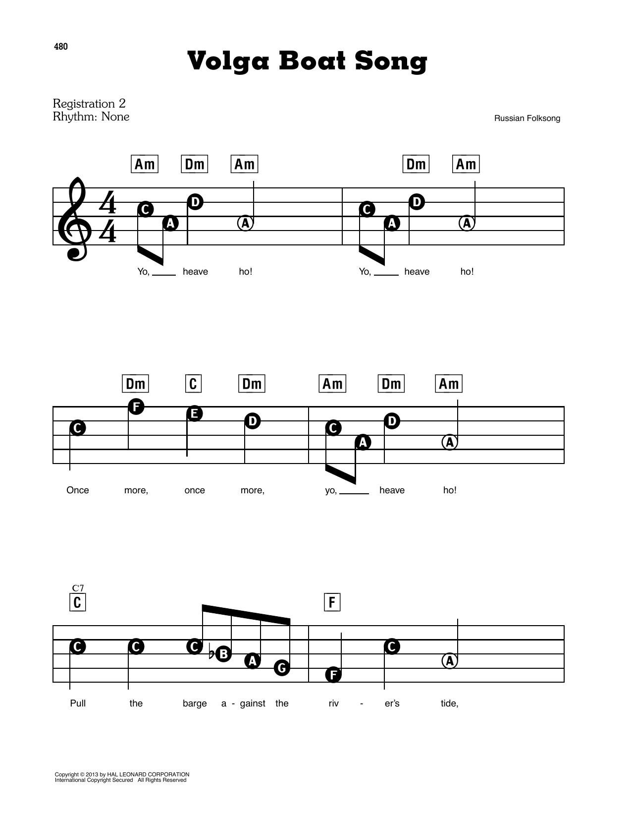 Volga Boat Song (E-Z Play Today)