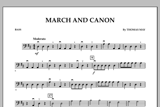 March and Canon - Bass (Orchestra)