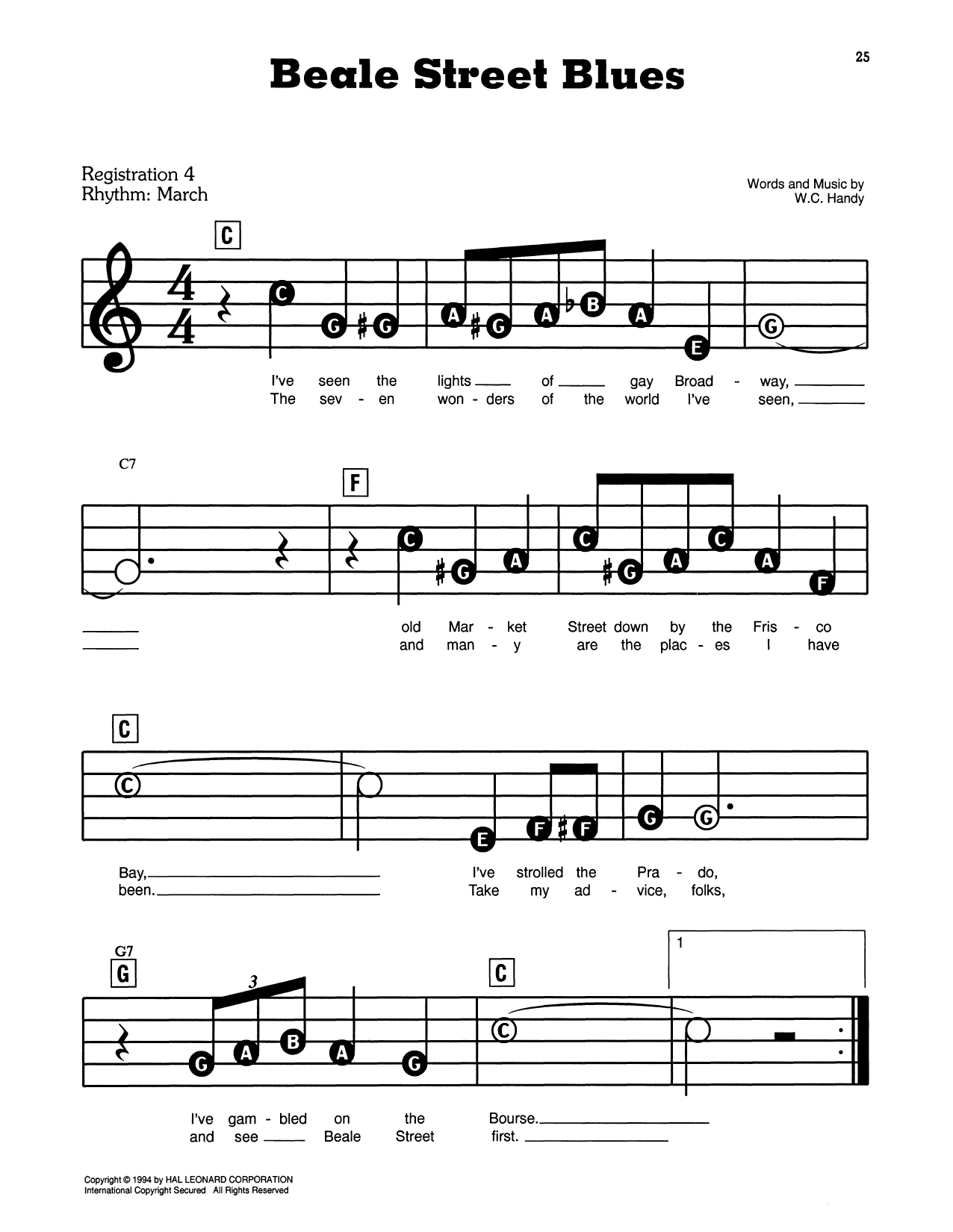 Beale Street Blues (E-Z Play Today)