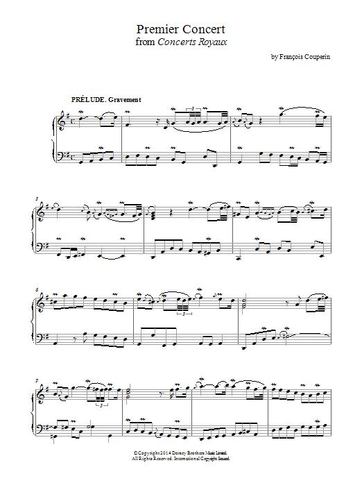 Premier Concert (Concerts Royaux) Sheet Music