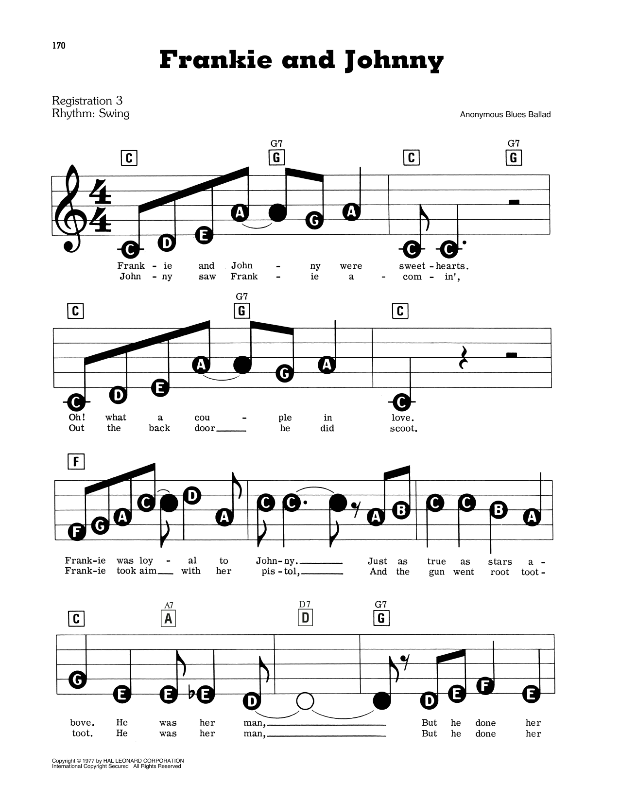 Frankie And Johnny Sheet Music