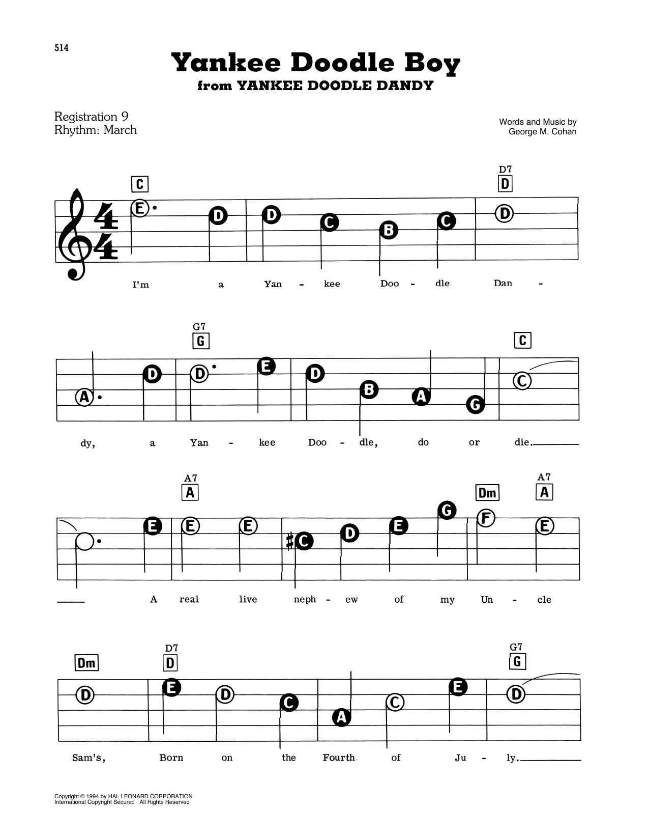 Yankee Doodle Boy (E-Z Play Today)