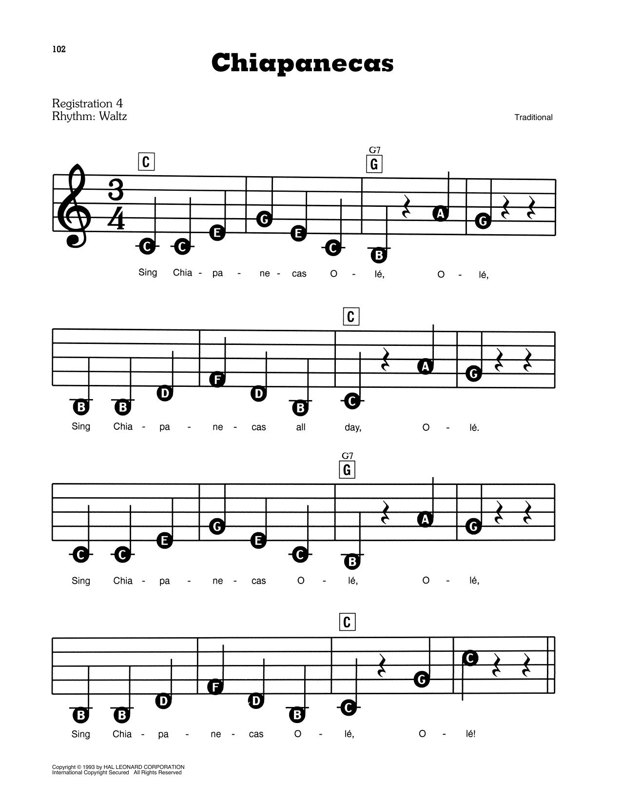 Chiapanecas (E-Z Play Today)