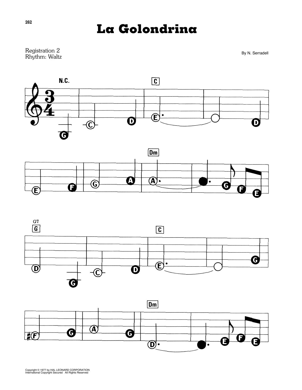 La Golondrina (E-Z Play Today)