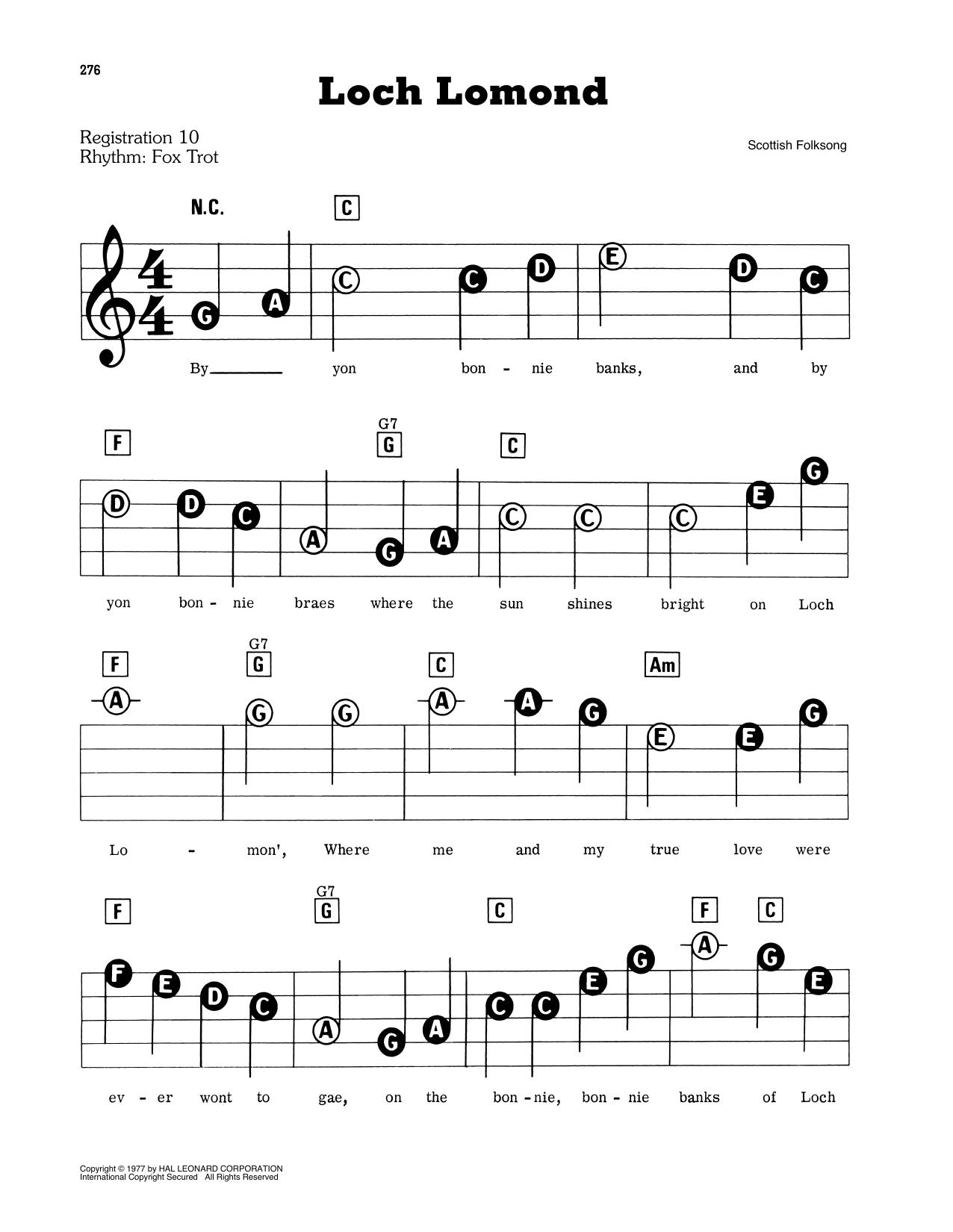 Loch Lomond Sheet Music