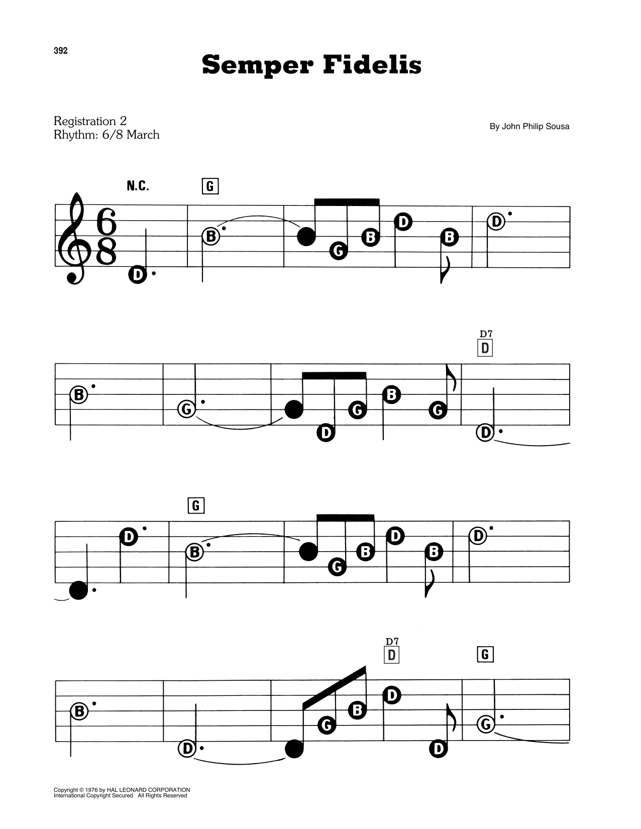 Semper Fidelis (E-Z Play Today)