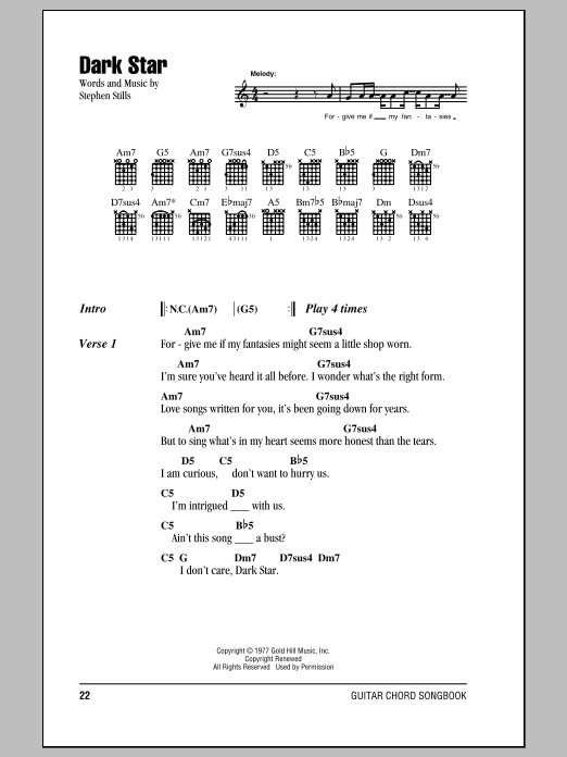 Dark Star Sheet Music