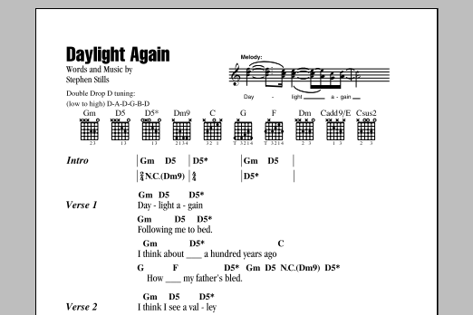 Daylight Again Sheet Music