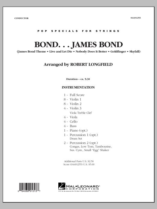Bond...James Bond - Conductor Score (Full Score) (Orchestra)