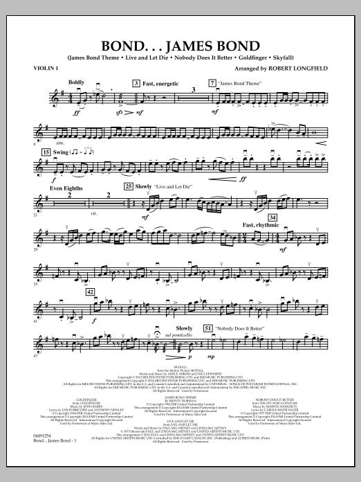 Bond...James Bond - Violin 1 (Orchestra)