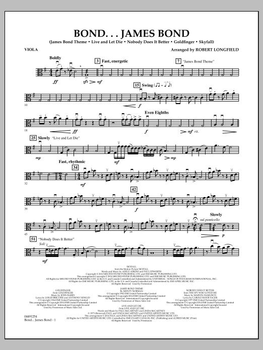 Bond...James Bond - Viola (Orchestra)