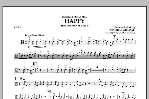 Happy (from Despicable Me 2) - Viola (Orchestra)