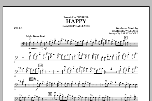 Happy (from Despicable Me 2) - Cello (Orchestra)
