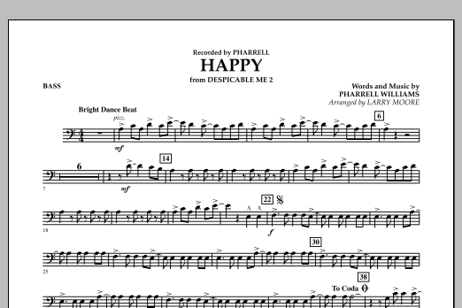 Happy (from Despicable Me 2) - Bass (Orchestra)