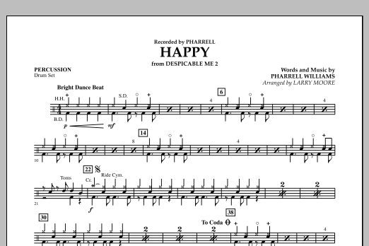 Happy (from Despicable Me 2) - Percussion (Orchestra)