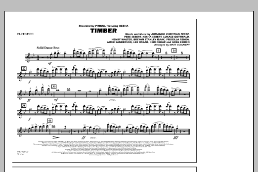 Timber - Flute/Piccolo (Marching Band)