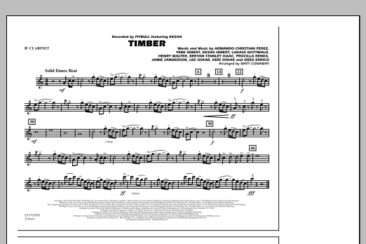 Timber - Bb Clarinet (Marching Band)
