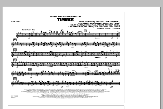 Timber - Eb Alto Sax (Marching Band)