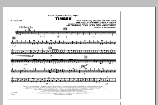 Timber - Bb Tenor Sax (Marching Band)