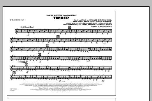 Timber - Eb Baritone Sax (Marching Band)